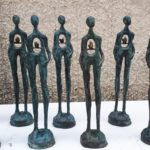 Patinated bronze. Lorri Acott