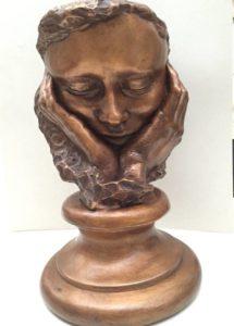 Portrait with Carole's Hands. Carole Feuerman